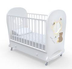 Детская кровать Nuovita Stanzione Honey Bear Swing, ваниль