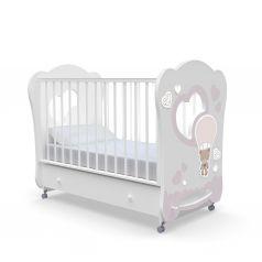 Детская кровать Nuovita Stanzione Cute Bear Swing, белая