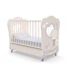 Детская кровать Nuovita Stanzione Cute Bear Swing, ваниль
