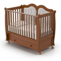 Детская кровать Nuovita Affetto Swing, темный орех