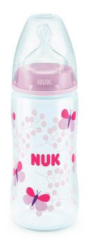 Бутылочка NUK  First Choice Plus M из полипропилена с силиконовой соской, 300мл, розовая