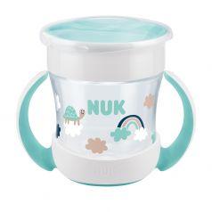 """Поильник NUK Evolution """"Mini Magic"""", нейтральный, зеленый, 160мл"""