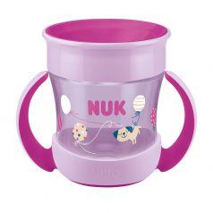 """Поильник NUK Evolution """"Mini Magic"""", для девочек, розовый, 160мл"""