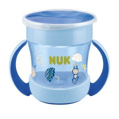 """Поильник NUK Evolution """"Mini Magic"""", для мальчиков, голубой, 160мл"""
