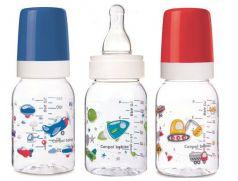 Антиколиковая бутылочка Canpol babies Machines с силиконовой соской, 3мес+, 120мл (в ассорт.)