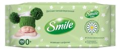 Детские влажные салфетки Smile Baby New Born с пластиковым клапаном, 100шт.