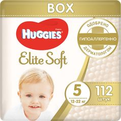 Подгузники Huggies Elite Soft 5, 12-22кг, 112шт.