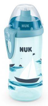 Поильник NUK для активных и подвижных детей, голубой, 300мл