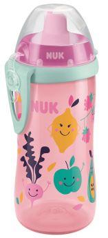 Бутылочка-поильник NUK First Choice с трубочкой, розовая, 300мл