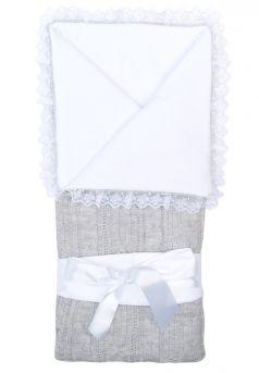 """Конверт-одеяло Сонный Гномик """"Нежность"""", дымчато-серый"""
