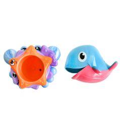 """Набор-пирамидка для игры в ванной Frog&Croc """"Морские обитатели"""""""