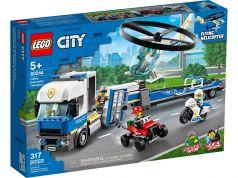 """Конструктор LEGO City 60244 """"Полицейский вертолётный транспорт"""", 317 деталей"""