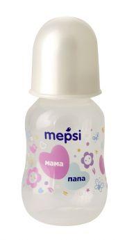Бутылочка для кормления Mepsi с силиконовой соской, 125мл