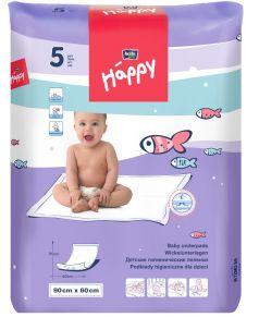 Детские пеленки гигиенические Bella Baby Happy, 60х90см, 5шт.