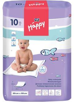 Детские пеленки гигиенические Bella Baby Happy, 60х60см, 10шт.