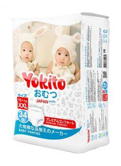 Подгузники-трусики Yokito XXL (15+кг), 34шт.