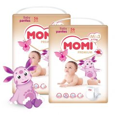 Подгузники-трусики Momi Premium Megabox M (6-11кг), 112шт.
