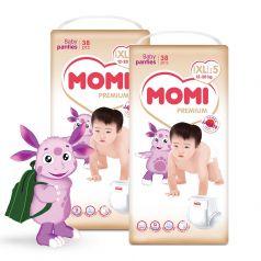 Подгузники-трусики Momi Premium Megabox XL (12-20кг), 76шт.