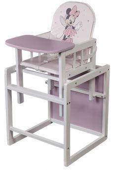 """Стул детский Polini kids Disney baby 255 """"Минни Маус"""", трансформируемый, бело-розовый"""