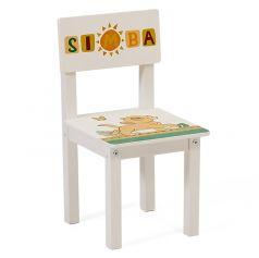 """Стул детский Polini Kids  Disney baby 105 S """"Король Лев"""", для комплекта детской мебели, белый"""