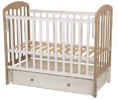 Кроватка детская Polini kids Simple 328, белый макиато