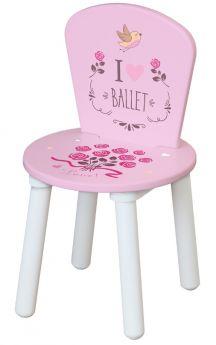 """Стул Polini Kids Fun 185 S """"Балерина"""", для комплекта детской мебели, розовый"""