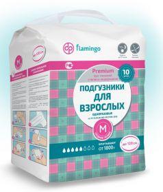Подгузники для взрослых Flamingo Premium M, 10шт.