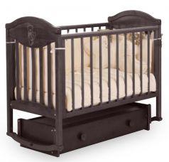 """Кровать детская Лель АБ 23.4 """"Камелия"""", универсальный маятник, декор №007 (цвета в ассорт.)"""
