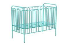 Кроватка детская Polini Vintage 150 металлическая, бирюзовая