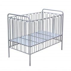 Кроватка детская Polini Vintage 150 металлическая, серебро