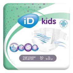 Детские подгузники iD Kids XL, 15-30кг, 30шт.