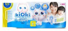 Детские подгузники KIOKI L (12+кг) на липучках, 44шт.