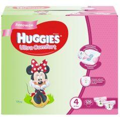 Подгузники Huggies Ultra Comfort 4 для девочек 8-14кг, 126шт.