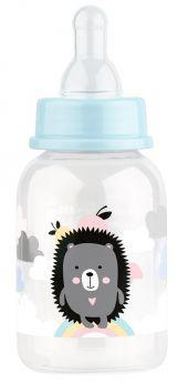 """Бутылочка Lubby """"Малыши и малышки"""" с соской средний поток, 125мл"""