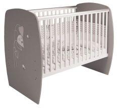 Кровать детская Polini Kids French 700 Amis, бело-серая