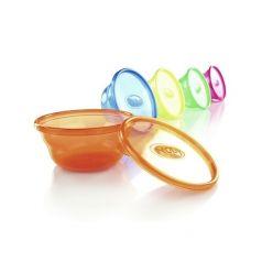 Контейнеры-тарелки Nuby с крышками (6шт.)