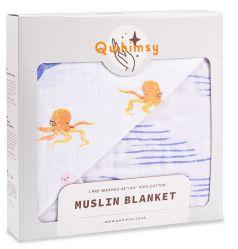 """Муслиновое одеяло Qwhimsy """"Океан"""", 112х112см"""