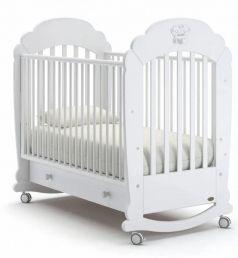 Детская кровать Nuovita Parte dondolo Bianco, белая