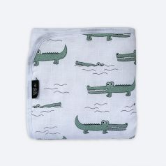 "Муслиновое одеяло Mjolk ""Крокодилы"" утепленное, 100х75см"