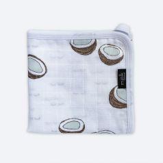 """Муслиновое одеяло Mjolk """"Кокосы"""" легкое, 80х80см"""