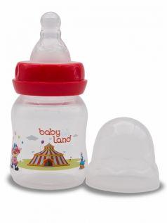 Бутылочка для кормления BabyLand с силиконовой соской в блистере (в ассорт.), 80мл