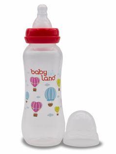 Бутылочка для кормления BabyLand с силиконовой соской в блистере (в ассорт.), 240мл