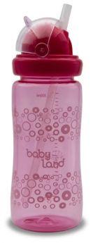 Бутылочка с трубочкой BabyLand (в ассорт.), 300мл