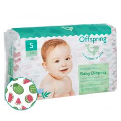 "Подгузники Offspring ""Арбузы"" S, 3-6кг, 48шт."