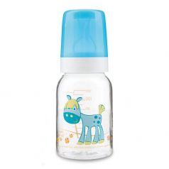 Бутылочка тритановая Canpol babies Cheerful animals с сил. соской, бирюзовая, 120мл