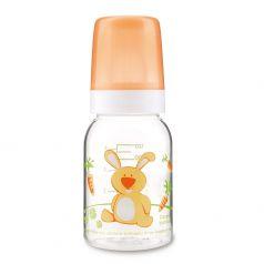 Бутылочка тритановая Canpol babies Cheerful animals с сил. соской, оранжевая, 120мл