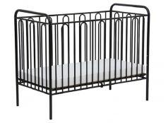 Кроватка детская Polini Kids Vintage 110 металлическая, черная