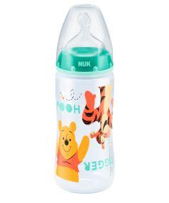 Бутылочка из полипропилена NUK First Choice Plus, с соской из силикона, бирюзовая, 300мл