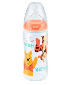 Бутылочка из полипропилена NUK First Choice Plus, с соской из силикона, оранжевая, 300мл