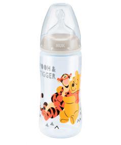 Бутылочка из полипропилена NUK First Choice Plus, с соской из силикона, белая, 300мл